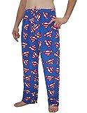 Mens DC COMICS SUPERMAN Polar Fleece Sleepwear / Pajama Pants XL Multicolor
