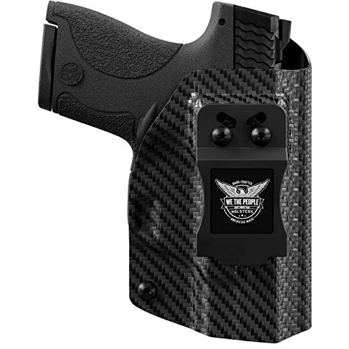 We The People - Carbon Fiber Right Hand Inside Waistband Concealed Carry Kydex IWB Holster Compatible with Glock 19 23 32 45 19X Gen 3-4-5 Gun
