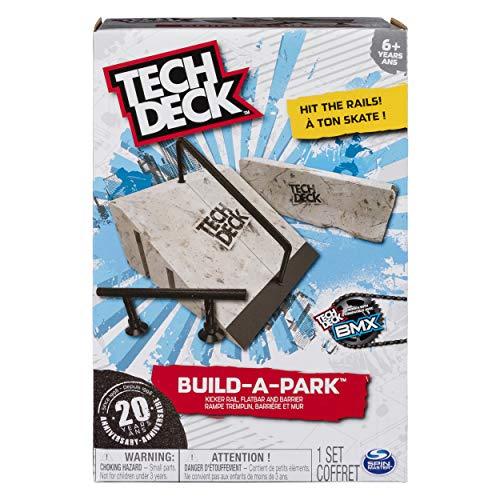 Tech Deck - Build-A-Park – Kicker Rail, Flatbar, and Barrier – Ramps Board and Bikes