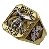 UNIQABLE Masonic Shriner Scottish Rite 32 Degree Ring 18K Gold PLD Yellow Version 35 Grams Handmade Templar BR-28 (10.5)