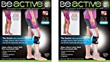 Be-ACTIVE Braces Beactive Acupressure for Sciatica Pain As Seen on TV- Set of 2 Braces, Black/Blue
