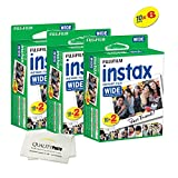 Fujifilm instax Wide Instant Film for Fujifilm instax Wide 300, 200, and 210 cameras w/ Microfiber Cloth by Quality Photo (60 Exposures)