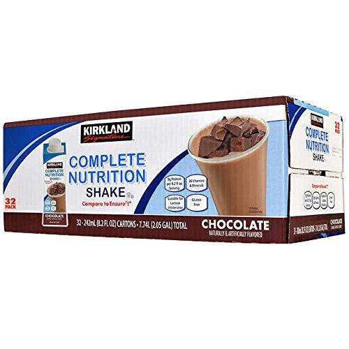 Kirkland Signature Complete Nutrition Shakes, 32-pack, 8.2 fl. oz. (Chocolate)