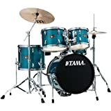 Tama Imperialstar 5-Piece Complete Drum Set with Meinl HCS Cymbals and 18 in. Bass Drum Hairline Blue