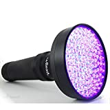 uvBeast Black Light UV Flashlight - HIGH Power 100 LED with 30-feet Flood Effect - Professional Grade 385nm-395nm Best for Commercial/Domestic Use Works Even in Ambient Light - USA Stock - UK Design