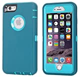 iPhone 6 Case, iPhone 6S Case [Heavy Duty] AICase Built-in Screen Protector Tough 3 in 1 Rugged Shockproof Cover for Apple iPhone 6/6S (Blue)
