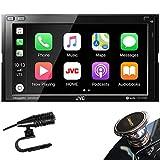 JVC D.Din 6.8' Touchscreen AM/FM/CD/BT Mechless SiriusXM Apple Car Play &Android Auto