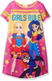 DC Comics Big Girls' Dc Super Heroes Short Sleeve Nightgown Pj, Pink, 7/8