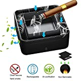 Volwco Ashtray Air Purifier, Multifunction Smoke Grabber Ashtray, USB Car Air Freshener, Secondhand Smoke Negative Ion Air Purifier, Ash Holder for Smokers, Smokeless Ashtray for Home, Office, Car