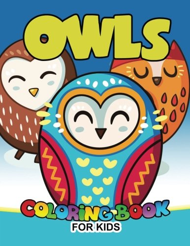 Owls Coloring Book For Kids Cute Animals Large Patterns To Color Ages 2
