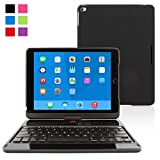 iPad Air 2 360 Rotatable Keyboard Case, Snugg - Ultra Slim Keyboard Case with Bluetooth Connectivity (Black) For Apple iPad Air 2