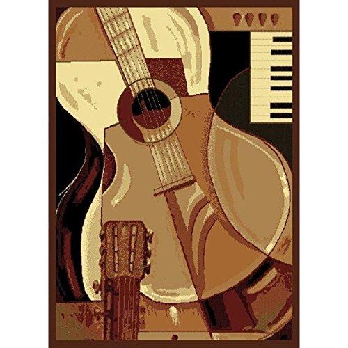 Guitar Piano Area Rug