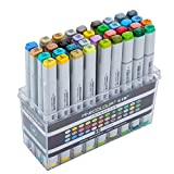 Finecolour Studio Double Ended Art Markers for Illustrations and Art Projects (36 Colours)