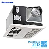 Panasonic FV-11VH2 Whisper Warm 110 CFM Ceiling Mounted Fan, Heat Combination, White/Cream