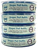Cindy's Baby Closet Scented Diaper Genie Pail Refill Bags, 4-Pack, 1200 Count