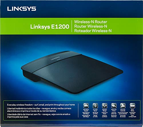 Linkys E1200 Up to 300Mbps Wi-Fi Router, Black 4