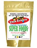 Virgin Extracts (TM) Pure Premium Freeze Dried Organic Pomegranate Powder 4:1 Concentrate Juice Extract SuperFood Pomegranate Powder (4 X Stronger) 16oz Pouch