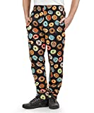 Product review of Men's Donut Print Chef Pant (XS-3X)