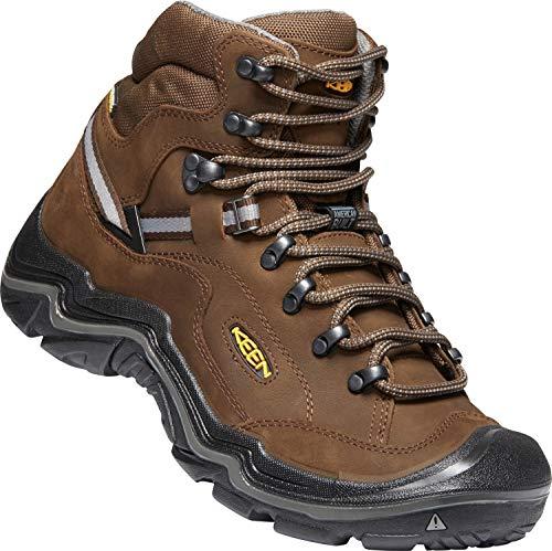 KEEN - Durand II Mid Waterproof Leather Hiking Boot, Wide, Cascade Brown/Gargoyle, 9 W US