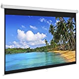 Best Choice Products 119in HD Indoor Pull Down Manual Widescreen 1:1 Gain Projector Screen for Home Theater, Office, Entertainment - White
