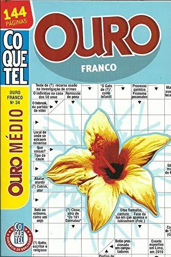 Livro Palavras Cruzadas Coquetel Ouro Franco nº 34 - médio