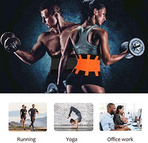 QEESMEI Waist Trainer Belt for Women & Man - Waist Cincher Trimmer Weight Loss Ab Belt - Slimming Body Shaper Belt(Hotpink,Large) 7