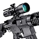 BARSKA New Rifle Scopes 3-9x42mm Red/Green Mil-Dot Reticle with Accessory Rail Mount