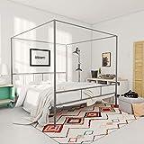 Novogratz Marion Canopy Bed, Drak Gray, Queen