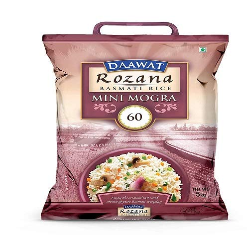 51HV95TxSoL - Daawat Rozana Mini Mogra Rice -5 Kg