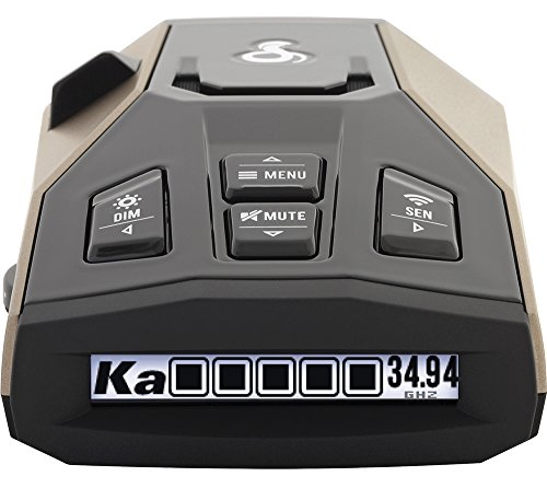 Cobra RAD 450 Laser Radar Detector: Long Range, False Alert Filter, Voice Alert & OLED Display