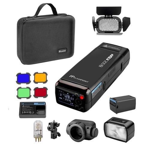 Flashpoint eVOLV 200 TTL Pocket Flash with Barndoor Kit Built-in R2 2.4GHz Radio Remote System (Godox AD200)