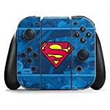 Skinit Superman Logo Nintendo Switch Joy Con Controller Skin - Officially Licensed Warner Bros Gaming Decal - Ultra Thin, Lightweight Vinyl Decal Protection