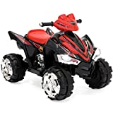 Best Choice Products 12V Kids Battery Powered Electric 4-Wheeler Quad ATV Toddler Ride-On Toy w/ 2 Speeds, LED Lights, Treaded Tires - Red