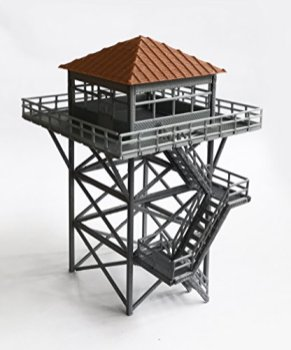 Outland-Models-Railway-Scenery-WatchtowerLookout-Tower-Grey-HO-Scale-187