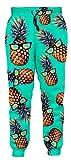 Adult 3D Print Vivid Pineapple Pattern with Glasses Joggers Cool Hip Hop Supreme Clothing for Men Drawstring Fashion Comfy Jogger Pants Sweatpant Large