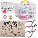 Premium Jewelry Making Supplies Includes Charms, Pliers, Findings, Beads for Bracelets, Earrings, Necklaces, Beading Kit with Free EBook, DIY Crafts for Adults & Teenagers, Perfect Teen Girl Gifts