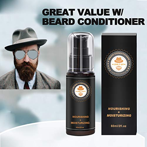 Upgraded Beard Grooming Kit w/Beard Conditioner,Beard Oil,Beard Balm,Beard Brush,Beard Shampoo/Wash,Beard Comb,Beard Scissors,Storage Bag,Beard E-Book,Beard Growth Care Gifts for Men 5