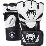 Venum Attack MMA Gloves,  Black/White,  Small