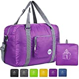 18' Foldable Duffle Bag 30L for Travel Gym Sports Lightweight Luggage Duffel By WANDF, Purple