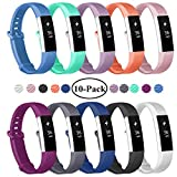 Fundro Replacement Bands Compatible with Fitbit Alta and Fitbit Alta HR, Newest Sport Strap Wristband with Secure Metal Buckle (A# 10-Pack, Small)