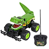 ArtCreativity 14 Inch Remote Control Dinosaur Monster Truck Dino RC Toy Car - Battery Operated - Unique Birthday for Boys, Girls, Toddler - Large Carnival Game Prize
