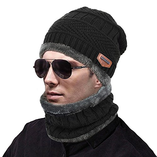 c0684b5ca58 muco Womens Mens Winter Hat Warm Thick Beanie Cap Scarf For Winter ...