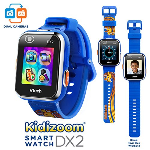 VTech Kidizoom Smartwatch DX2 Skateboard Swoosh w/Bonus Royal Blue Wristband