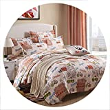 The small cat Black Rose Bedding Set Rose Heart Duvet Cover 3 or 4pcs/Set Summer Bed Set White Bedclothes Flora Flat Sheet Daisy Kid bedlinen,Travel on Your Bed,Queen