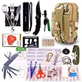 GULAKI Survival First Aid Kit, Outdoor Emergency Kits Gear Medical Supplies Trauma Bag for Camping Boating Hunting Hiking Home Car Earthquake and Adventures