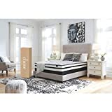 Ashley Furniture Signature Design - 10 inch Chime Express Hybrid Innerspring Mattress - Bed in a Box - Queen - White