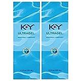 Personal Lubricant, K-Y UltraGel Water Based Lube, 4.5 oz (Pack of 2)