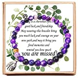 MDPOO Coworker Gifts for Women Farewell Bracelet with Gift Card Retirement Gift for Women Ladybug Charm