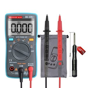 NKTECH NK-51C True RMS Backlight Auto-Range Palm Digital Multimeter AC DC Voltage Current Resistance Capacitance Frequency Diode Continuity Duty Cycle Test 6000 Counts Pocket
