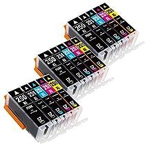 E-Z Ink (TM) Compatible Ink Cartridge Replacement for Canon PGI-250XL PGI 250 XL CLI-251XL CLI 251 XL (3 Large Black, 3 Cyan, 3 Magenta, 3 Yellow, 3 Small Black) for Canon PIXMA MX922 MG5520 MG7520